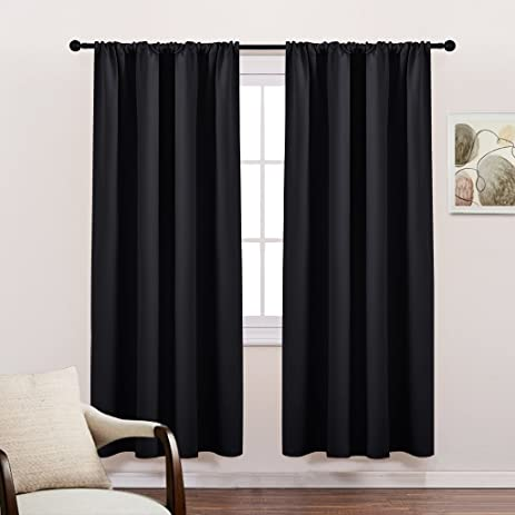 Amazon.com: Bedroom Blackout Curtains 72 Long - PONY DANCE Solid ...