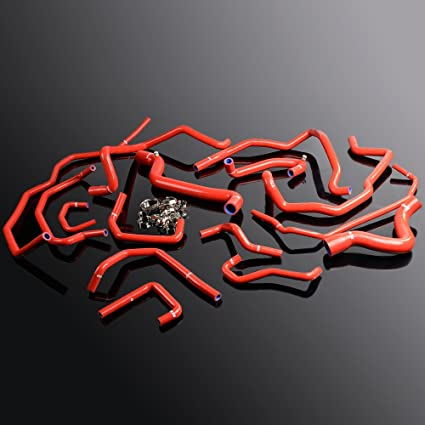 Silicone Radiator Hose Piping Kit For Renault 5gt R5 Turbo Super 1.4l Red