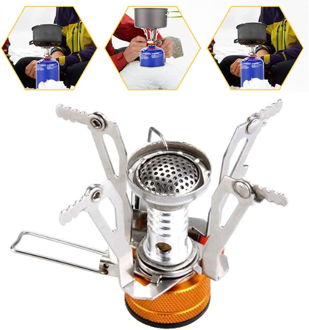 Camping Gas Stove Ultralight Portable Outdoor Burners Metal Outdoor Picnic Burners Super Lightweight Gas Cooker