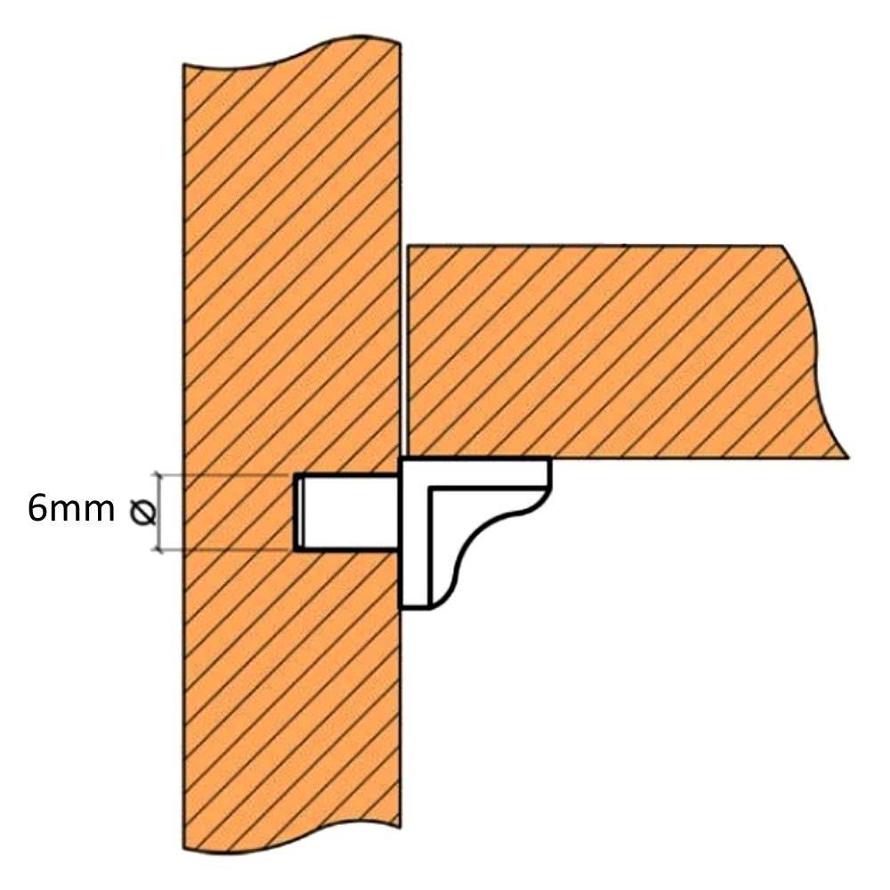 200x Portaestantes soporte para estante /Ø6mm Kallavesi pl/ástico haya C41762 AERZETIX