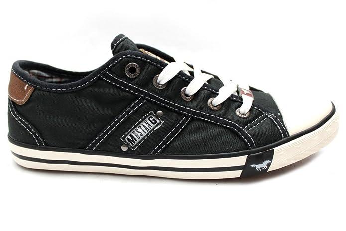 Mustang - Mocasines de Material Sintético para Mujer Negro Negro, Color Negro, Talla 41: Amazon.es: Zapatos y complementos