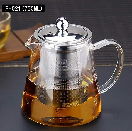 ROKTONG Teteras de Vidrio con infusor, 750 ml en Forma Cuadrada ...