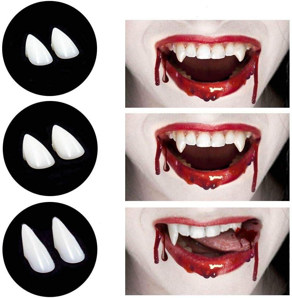 Horror False Teeth Halloween Prop Teeth MiOYOOW 1 Pair Vampire Teeth Fangs