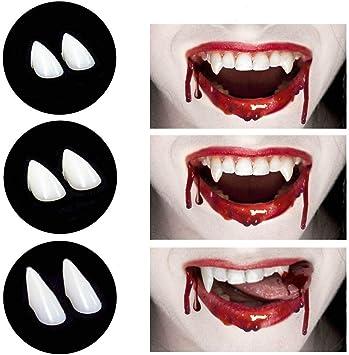 Bloodcurdling Vampire Werewolve Fangs Fake Denture Teeth Costume For HalloweeL/_D