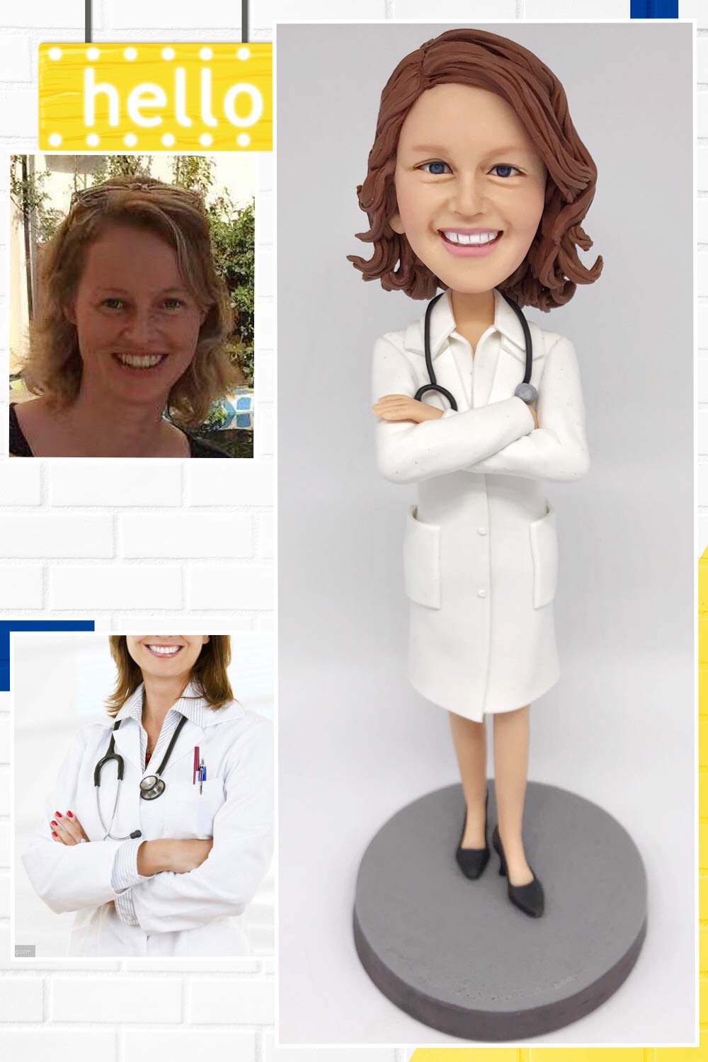 Custom Doctor Bobblehead Figurine Personalized Occupational Gifts Valentines Day Gift Business Gift Father Gift Boyfriend Gift Friends Gifts Based on Your Photos for New Year,DHL Expedited Shipping