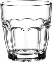 Bormioli Rocco Rock Bar Stackable Juice Glasses – Set Of 6 Dishwasher Safe Drinking Glasses For Soda, Juice, Milk, Coke, Bee