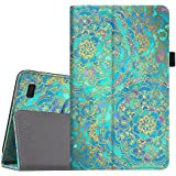 Fintie Folio Case for All-New Amazon Fire 7 Tablet (7th Generation, 2017 Release) - Slim Fit PU Leather Stand Protective Cover Auto Wake/Sleep, Compatible with Fire 7 (5th Gen, 2015), Shades of Blue