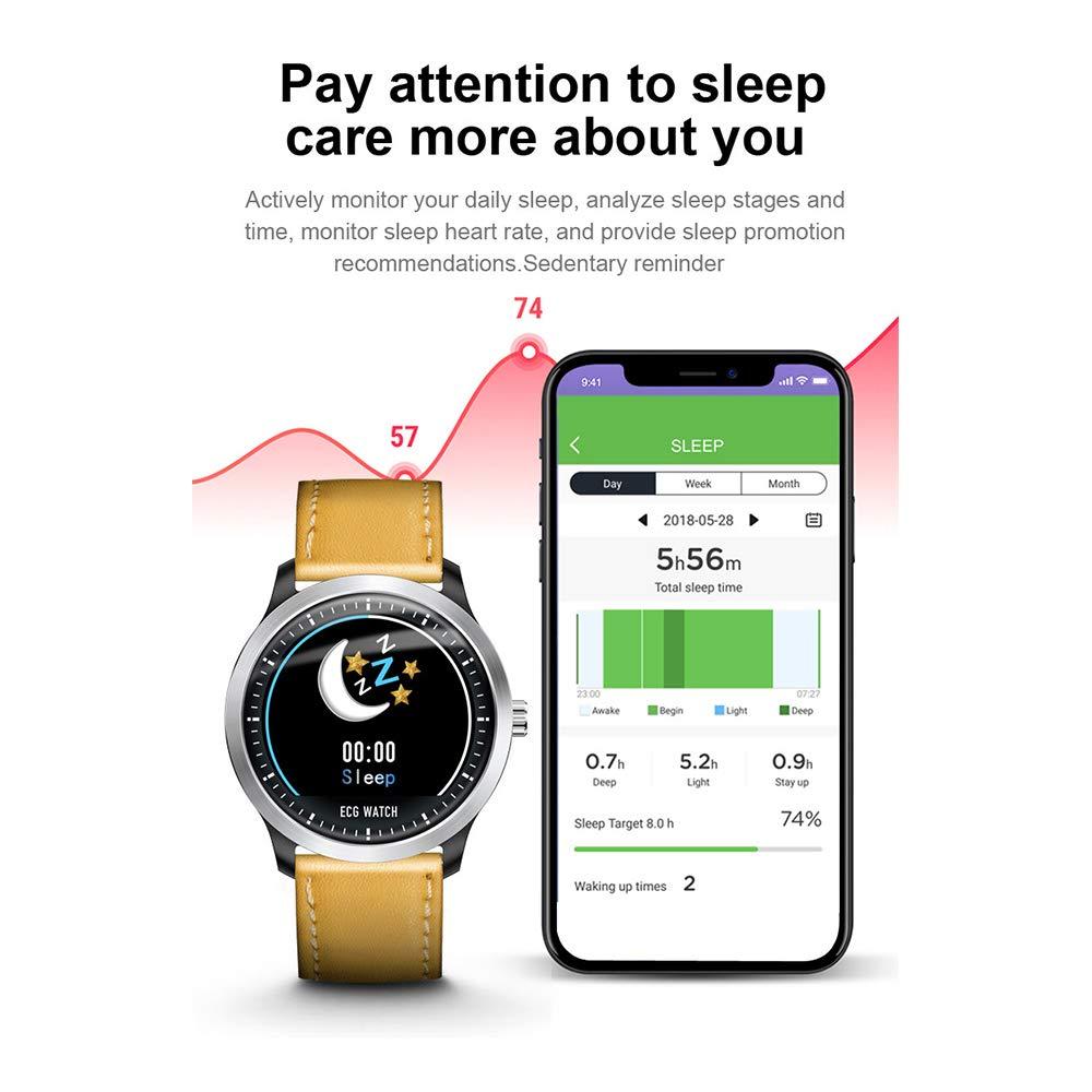 Amazon.com: Smartwatch N58 ECG PPG Smart Watch with ...