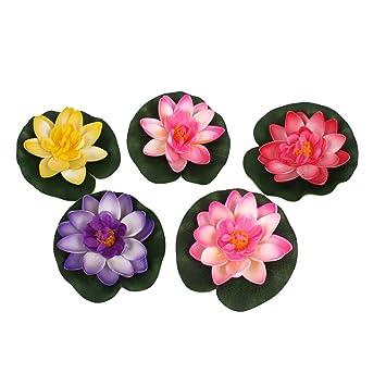 Flores para Acuario Sourcingmap. Flores de Espuma Decorativas para Acuario, simulación de Flores de Loto: Amazon.es: Productos para mascotas