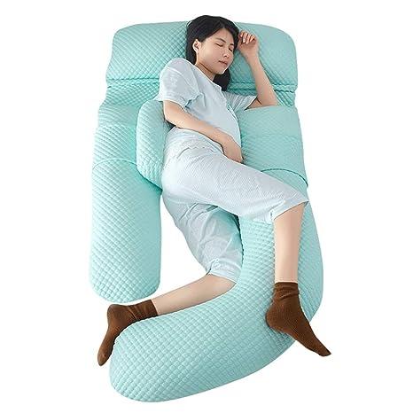 Almohada de cuerpo entero en forma de U Almohada De Embarazo ...