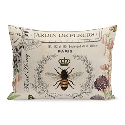 Amazon.com: Aikul Throw Pillow Cover Queen Modern Vintage ...