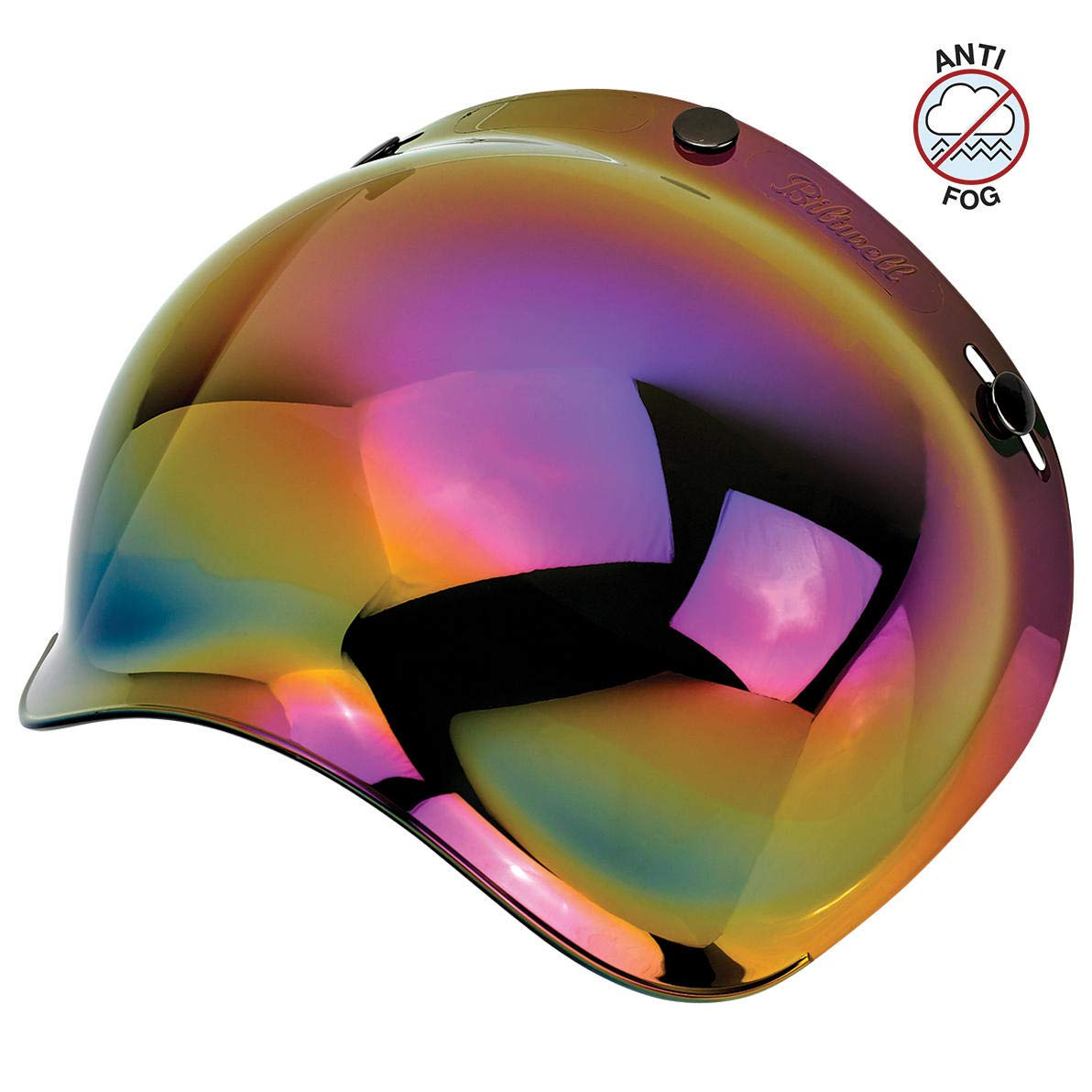 Biltwell Unisex-Adult's (BS-GLD-AF-SD) Bubble Shield - Gold Mirror - Anti-Fog, One Size,