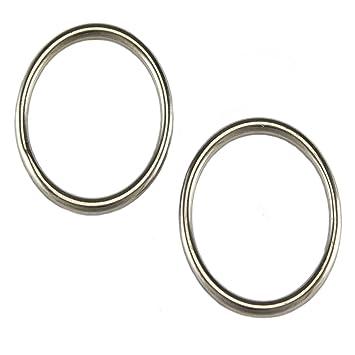 2 Rundringe 6 x 45mm Edelstahl Niro VA Rundring O Ring Ringe