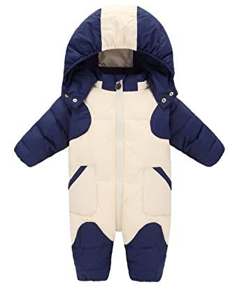 0f86859524904 GainKee Baby Girl and Boy Snowsuit Duck Down Jacket Kids Snow Wear Hooded  Puffer Jumpsuit Winter