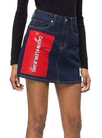 Calvin Klein Falda Jeans HR Mini Azul: Amazon.es: Ropa y accesorios