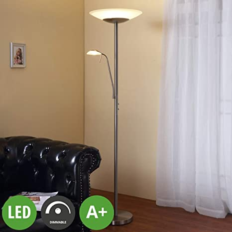 LED Lámpara de pie Ragna (Moderno) en Blanco hecho de ...