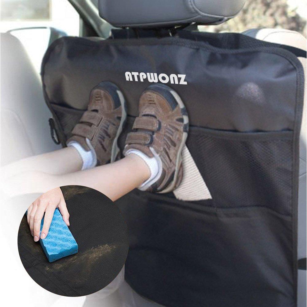 Atpwonz 2 Stück Kick Matte Rückenlehnenschutz Kinder Rücksitzschoner Rücksitz Autotasche Kinder Auto Rückenlehnenschutz Baby