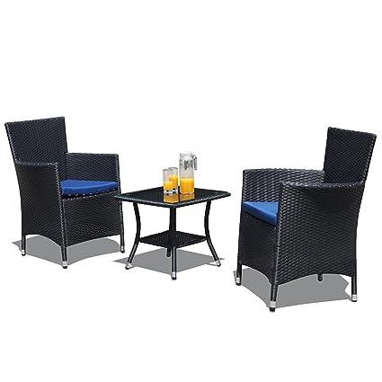 Amazon.com: PATIOROMA Juego de muebles de patio, 3 piezas ...