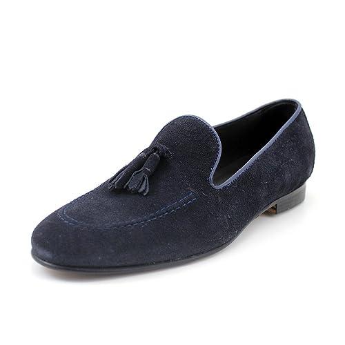 GIORGIO REA Mocasines Zapatos Para Hombre Hechos a Mano Italiano, Cuero Genuino, Clásico,