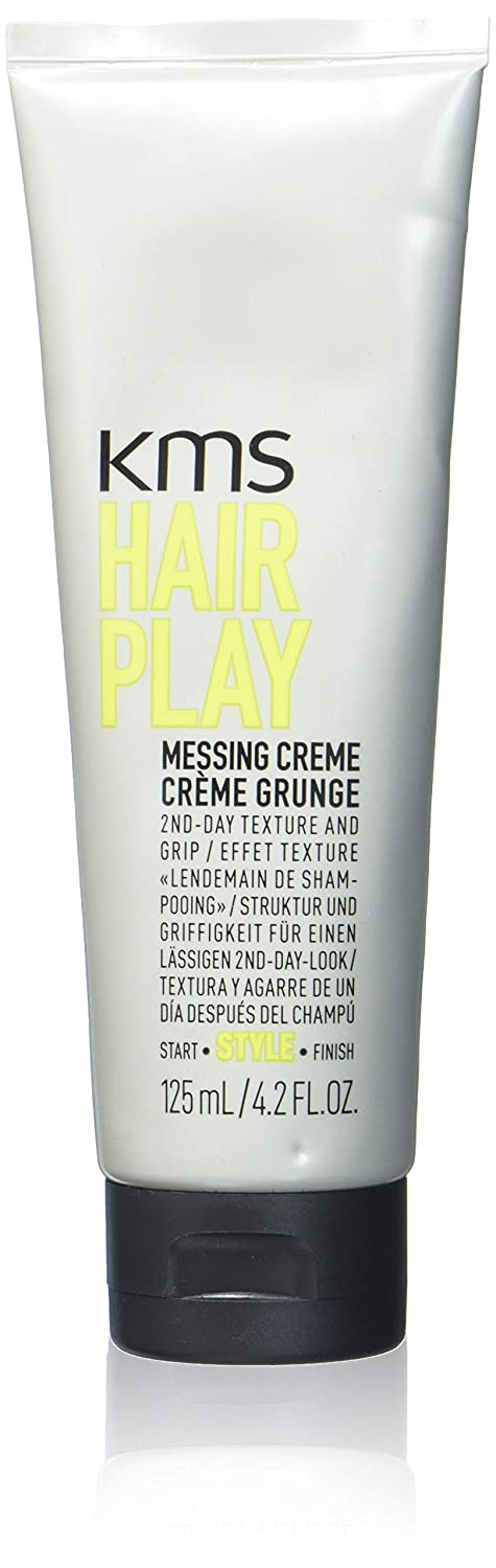 KMS California Hair Play Messing Crème, Provides 2nd Day Texture and Grip, 125 mL/4.2 oz. 137022