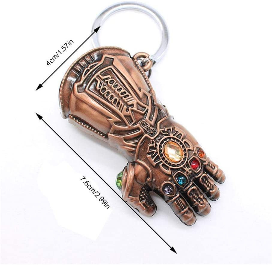 JLZK Avengers 4 Gauntlet Keychain Gold Golve Thanos Keyring Inficnity War Accessories for Fans
