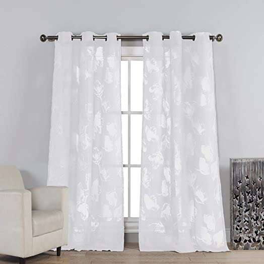Duck River Textiles – Aurora Crushed Taffeta Grommet Top Window Curtains for Living Room Bedroom – Assorted Colors – 52 X 84 Inch – Black