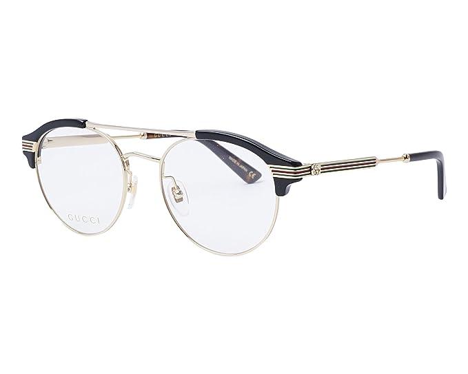 Occhiali da Vista Gucci GG0289O BLACK uomo  Amazon.it  Abbigliamento b3439e61d929
