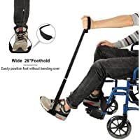 soundwinds Leg Lifter Strap Rigid Leg Lifter with Hand and Foot Loops for The Elderly Disabled Mobility Aids Riser Device for Beds Wheelchairs and Cars