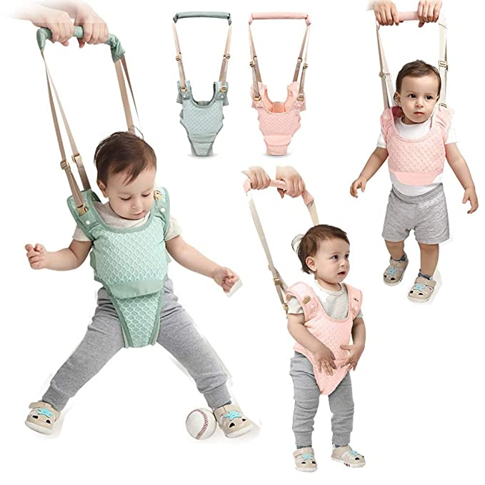 Handheld Baby Walker Kids Toddler Walking Baby Toys Adjusted Baby Learning Walker Harness Keeper Walking Belt Walk Assistant,Great Gift for 7-24 ...