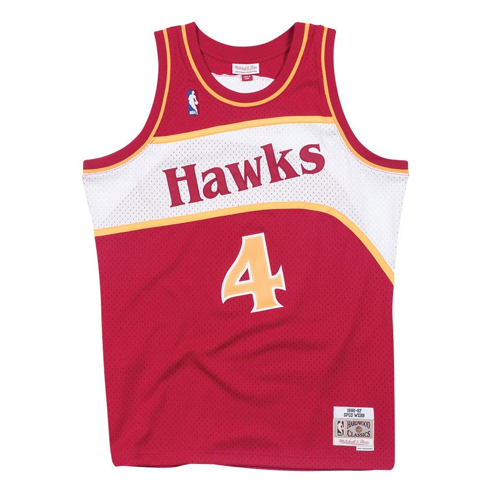 Amazon.com   Mitchell   Ness Spud Webb Atlanta Hawks 1986-87 Road Red  Swingman Jersey   Sports   Outdoors 7e76d6a8e
