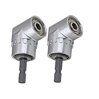 "1//4/"" 105° Angle Driver Screwdriver Hex Drill Bits Adaptor Socket Holder Tools"