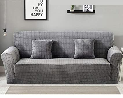 TSSCY Sofa Covers Couch Covers Anti-Slip Sofa slipcovers Couch slipcover Sofa Throws Chair Protector Furniture Armchair Polyester-Silver 4 Seater/XL ...