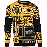 FOCO Boston Bruins Patches Ugly Crew Neck Sweater Medium