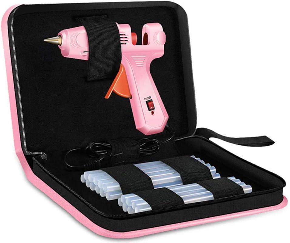 FUWANG Mini Pistola de Pegamento de fusión en Caliente Profesional de 150 W con Palos de Pistola de Pegamento Caliente y Bolsa para Herramientas de reparación de Bricolaje