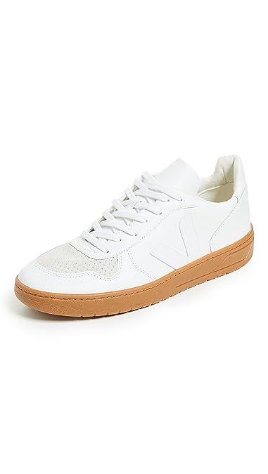 bd23bcce0201e Amazon.com   Veja Men's V 10 Leather Sneakers, Extra White/Natural ...