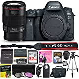 Canon EOS 6D Mark II 26.2 MP Digital SLR Camera (Wi-Fi Enabled) PROFESSIONAL PHOTOGRAPHER Lens Kit with EF 100mm f/2.8L Macro IS USM Lens & Premium Camera Works Accessory Bundle