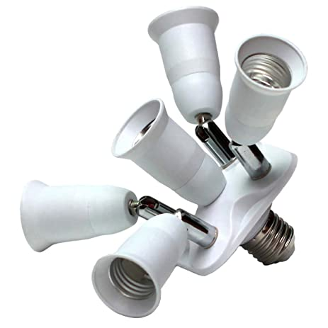 Toplimit 5 Light Socket Splitter LED Bulb Socket Adapter Converter Free  Degrees Adjustable Energy Saving Lamps