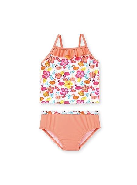 587e369b63fd Amazon.com  Healthtex Toddler Girl Flutter Ruffle Tankini Swimsuit ...