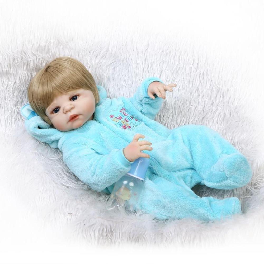QXMEI Simulations Wiedergeburt Puppen Silikon Nettes Baby Kann Wasser Begleiten Um Spielzeug Kind Kreatives Persönlichkeits Geschenk 57CM Zu Begleiten