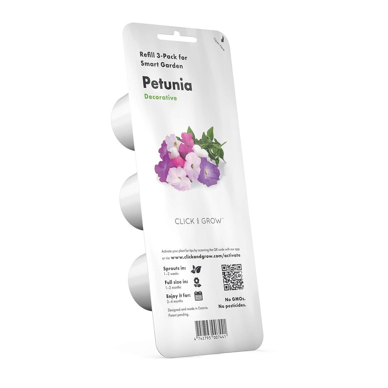 Emsa 3 Cápsulas Petunia Click & Grow, Semillas apta para Smart ...