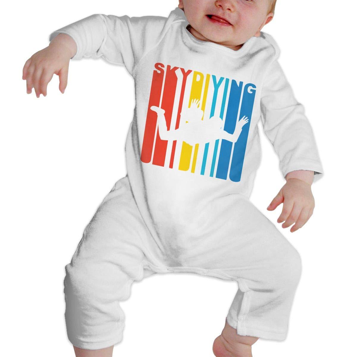 Baby Boy Long Sleeve Jumpsuit Vintage Skydiving Kid Pajamas