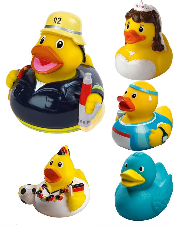 normani Quietsche-Ente Badewannenente Gummiente Badeente in vielen lustigen Designs