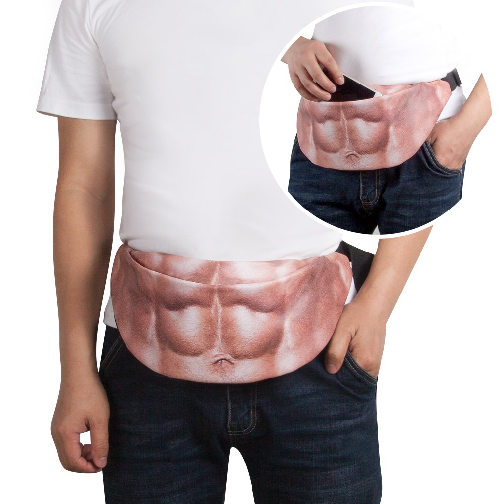 Dad Bag Beer Belly Fanny pack - WAYTIM Waist Bag for Party, Hiking(Muscle)…