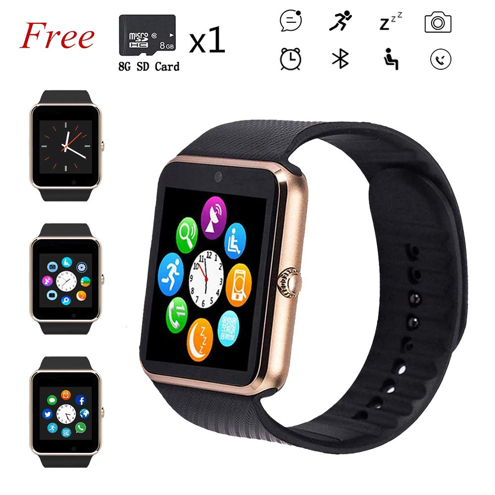 Beaulyn Smart Watch,Bluetooth Touch Screen Watch Phone for Android iPhone Pedometer Smartwatch Sport Wrist Watch Compatible Samsung iOS Men Women Kids ...