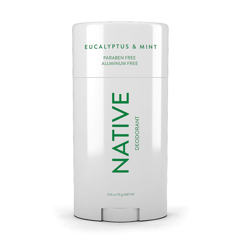 Native Deodorant - Natural Deodorant - Vegan, Gluten Free, Cruelty Free - Free of Aluminum, Parabens & Sulfates - Born in the USA - Eucalyptus & Mint