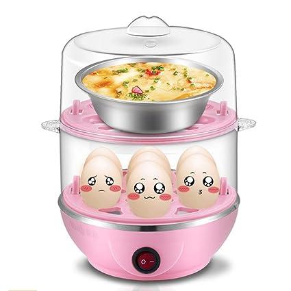 ANHPI Caldera De Huevos Eléctrica Doble Nivel Vaporera De Alimentos Multifunción Con Capacidad De 12 Huevos