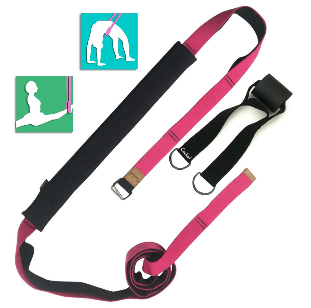 Sunsign Multi-Functional Fitness Stretching Strap Exercise Physical Therapy Belt Backbends Trainers Stretch Your Back Chest and Spine for Rehab Pilates Dance Gymnastics Thin WaistHome Gym Exercise