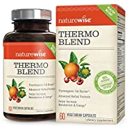 NatureWise Thermo Blend Advanced Thermogenic Fat Burner for Men & Women Increase Metabolism & Promotes Natural Energy for Increased Weight Loss, Natural Caffeine, Vegan, Gluten Free, 60 count