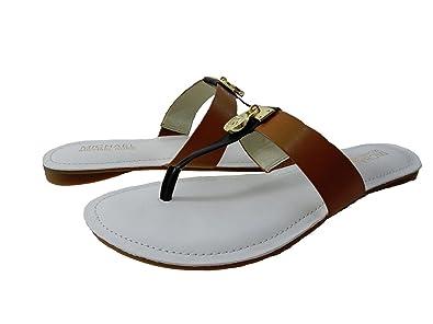 968f2091774 Michael Michael Kors Hamilton Flat Leather Thong Sandal (5.5)