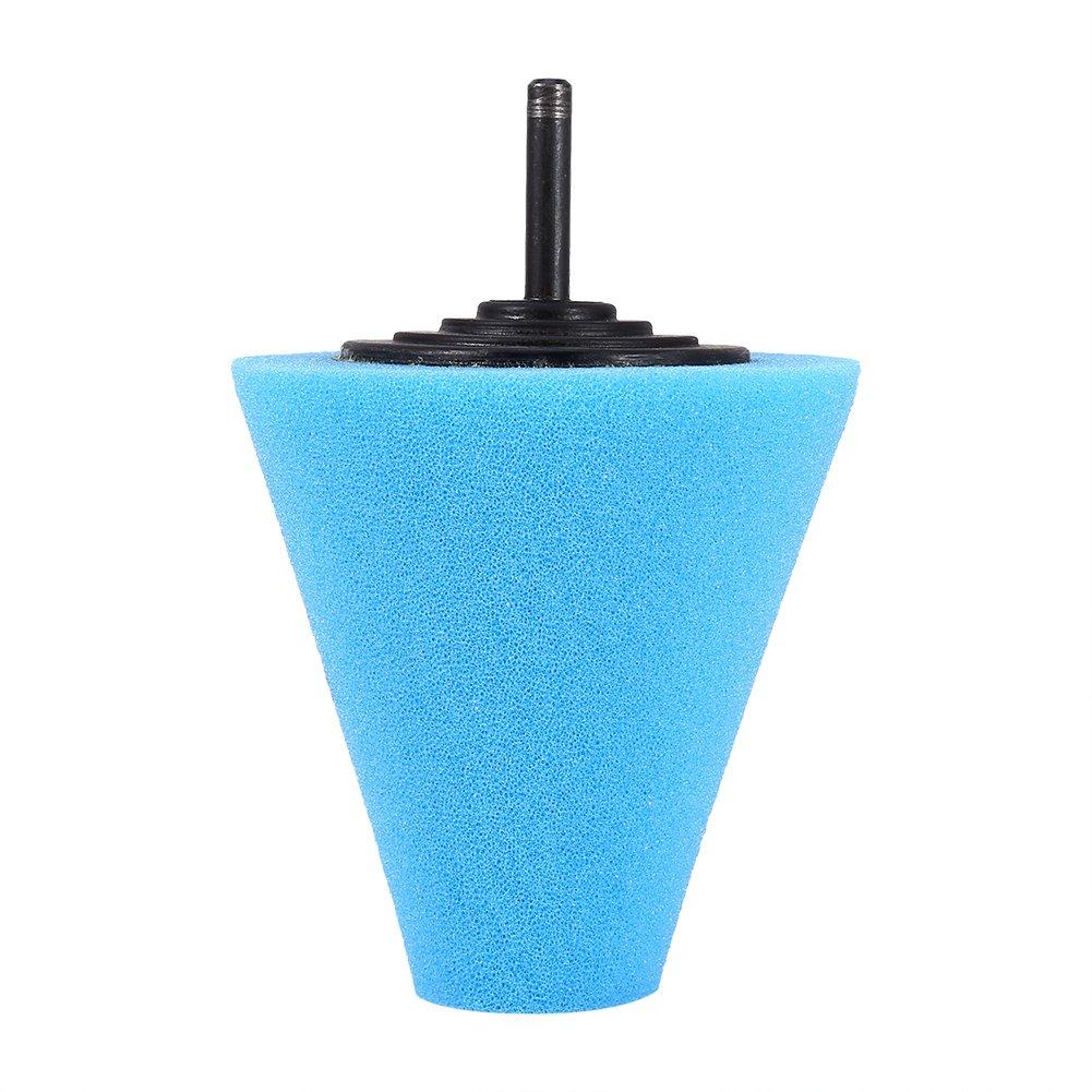 qiilu Espuma pulir de cono pulir Pads para ruedas –  utilizar con taladradora